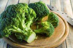 Morceaux frais de brocoli Photographie stock