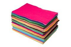 Morceaux multicolores de feutre Image libre de droits