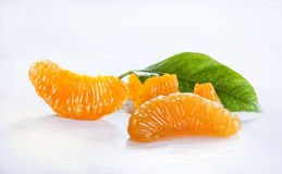 Morceaux oranges Image libre de droits