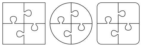 Morceaux transparents de puzzle Image libre de droits