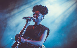 Morcheeba and Skye Edwards in Moscow Royalty Free Stock Photo