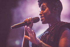 Morcheeba and Skye Edwards in Moscow Stock Image