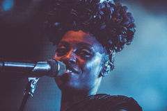 Morcheeba and Skye Edwards in Moscow Stock Photography