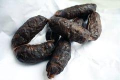 Morcillas spagnolo (salsicce di maiale di anima) Fotografia Stock