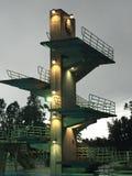 Morcom dykningplattform Arkivbild