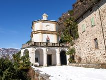 Morcote, церковь Santa Maria del Sasso Стоковое Изображение RF