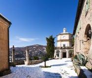 Morcote, kościół Santa Maria Del Sasso Zdjęcia Stock