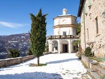 Morcote, kościół Santa Maria Del Sasso Zdjęcia Royalty Free