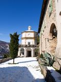 Morcote, kościół Santa Maria Del Sasso Zdjęcie Royalty Free