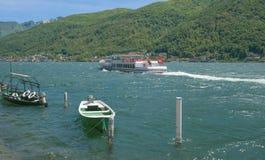Morcote, lac canton de Lugano, Tessin, Suisse Image stock
