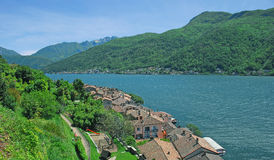 Morcote,Lake Lugano,Switzerland Stock Photo