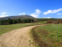 Morcuera Scenics. Nice shoot of the pasture field of the Morcuera surroundings Stock Photo