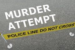 Mord-Versuchskonzept lizenzfreie abbildung