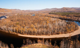 Mordaga autumn scenery (panorama) Royalty Free Stock Photography