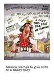 Mordaza de la historieta sobre embarazo del oficinista libre illustration