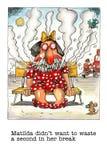 Mordaza de la historieta sobre fumador femenino stock de ilustración