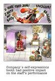 Mordaza de la historieta sobre vida de la oficina Imagen de archivo libre de regalías