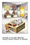 Mordaza de la historieta sobre vida de la oficina ilustración del vector