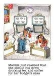 Mordaza de la historieta sobre vida de la oficina stock de ilustración
