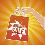 Mordaza de la venta del otoño ilustración del vector