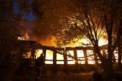 mordbrand Fotografering för Bildbyråer
