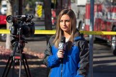 Mordbrandrevolvermanhändelse i Springfield Oregon Oktober 27 royaltyfri fotografi