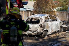 Mordbrandrevolvermanhändelse i Springfield Oregon Oktober 27 arkivbilder