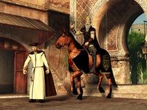 Mordechai en Haman royalty-vrije illustratie
