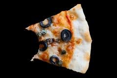 Mordedura de la pizza de Napole Foto de archivo