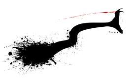 Mordedura de la serpiente Foto de archivo libre de regalías
