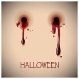 Mordedura del festival de Halloween y fondo de la sangre ilustración del vector