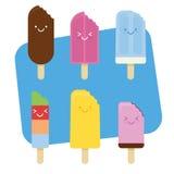 Mordedura del helado del verano Foto de archivo