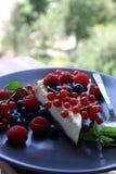 Mordedura del pastel de queso fotografía de archivo libre de regalías