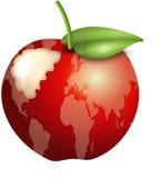 Mordedura roja de la manzana stock de ilustración