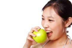 Mordedura verde de la manzana Imágenes de archivo libres de regalías