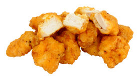 Mordeduras de la pepita de pollo imagen de archivo