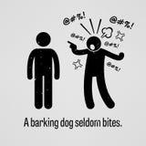 Mordeduras de un perro del descortezamiento raramente ilustración del vector