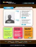 Morder and Futuristic Style WebSite Template. Colorful Morder and Futuristic Style WebSite Template stock illustration