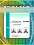 Morder and Futuristic Style WebSite Template Royalty Free Stock Photography
