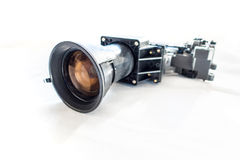Mordern projector taken apart. Parts of a projector royalty free stock image