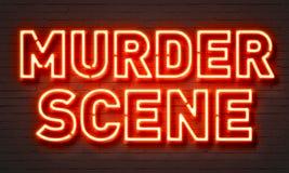 Morderstwo sceny neonowy znak obraz stock