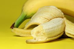 Mordida da banana Foto de Stock Royalty Free