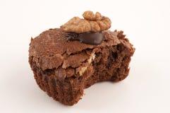 Mordida da brownie Fotografia de Stock