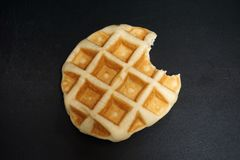 Mordida do waffle foto de stock royalty free