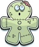 Mordida do zombi do pão-de-espécie dos desenhos animados ilustração stock