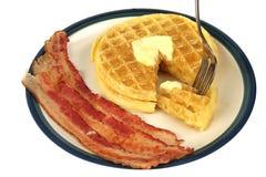 A mordida dos Waffles isolou-se Imagem de Stock Royalty Free