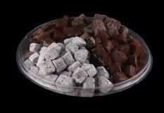 Mordidas 2 da brownie Imagens de Stock Royalty Free