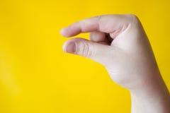 Mordido - señal de mano Fotos de archivo libres de regalías