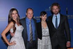 Mordomo de Gerard, Rashida Jones, Woody Harrelson, Sófia Vergara fotografia de stock