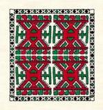 Mordovian национальная вышивка Стоковые Фото
